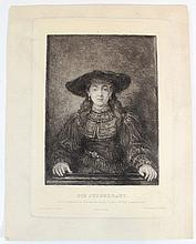 Engraving by Rembrandt