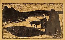 Einhorn, an Arab man sowing the ground