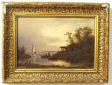 Unidentified artist, a coastal town