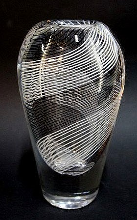 Glass vase by Kosta Boda Sweden