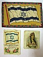Lot of 3 Felt flags: Zion and Queen Esther