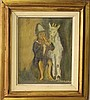 Simon Karczmar (Polish-Israeli, 1903-1982), a boy and a goat, Simon Karczmar, Click for value