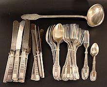 Parts of a cutlery set, Art Deco