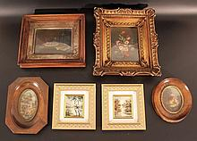 Lot of 6 European miniature paintings