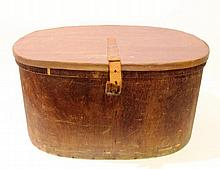 Wooden box with a leather lid