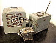 Lot of a film projector, an amplifier and a transformer from the Armon Cinema in Haifa