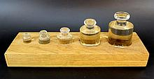 Set of glass weights