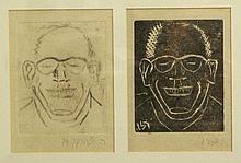 Rudi Lehmann (1903-1977), lot of two prints