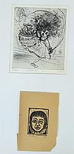 Mordecai Moreh (1937-), lot of two prints
