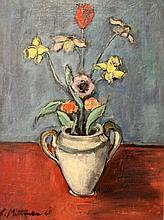 Unidentified artist, vase with flowers