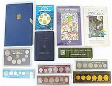 Lot of various sets of Israeli coins
