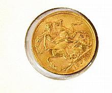 English 22k gold sovereign