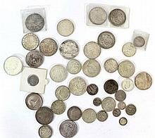 Lot of worldwide silver coins