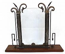 A metal Art-Deco picture frame