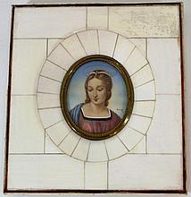 Miniature with a portrait of a woman