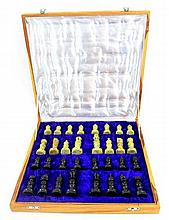 Chess set made of Soapstone