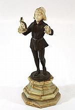 Bronze and ivory figurine