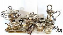Large lot of silver-plated items