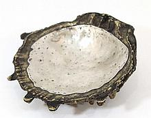 Bronze and silver ashtray by Laffo, Peru
