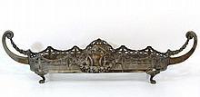 A brass silver plated center-piece