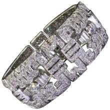 1930sS French Art Deco Diamond Platinum Bracelet