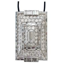 1930s French Art Deco Diamond and Platinum Necklace