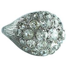 1960s Diamond Gold bombé Ring