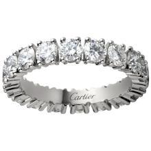 Cartier Diamond and Platinum Destinée Wedding Ring