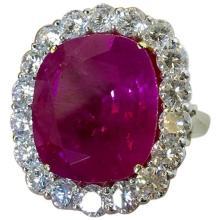 31.06 Carat Ruby Burmese Gold Ring