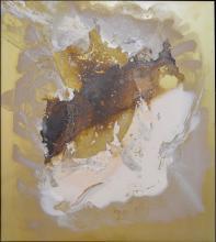 Vasco Bendini (1922 - 2015) SENZA TITOLO tecnica mista su lamina, cm 6