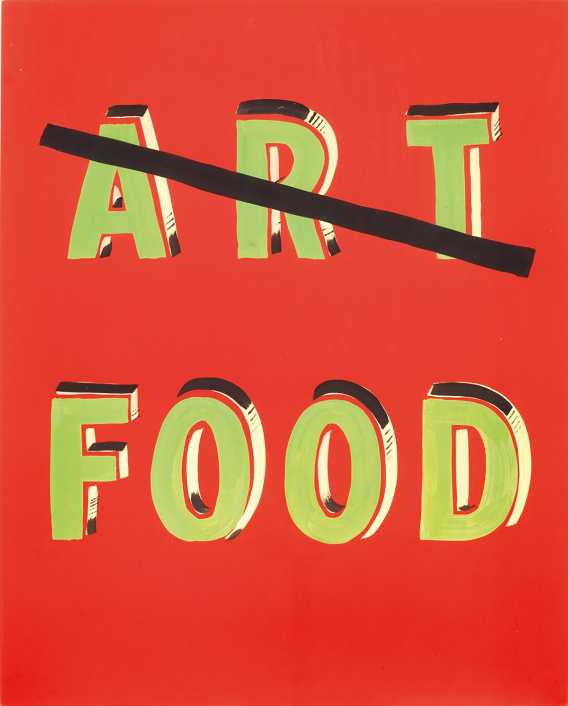 Bob and Roberta Smith ART FOOD