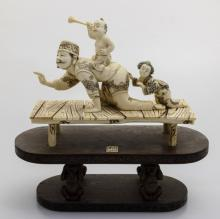 Mammoth Ivory Sculpture-Play Time