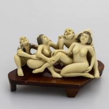 Mammoth Ivory Erotic-Group Of Two Couple's