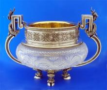 Silver Art - Russian Silver And Crystal - Bowl- Faberge