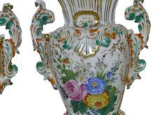 Pair Of Limoge Porcelain Urns