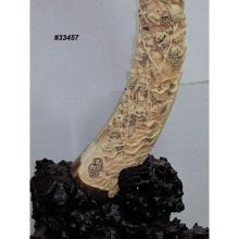 Mammoth Ivory Handcrafted Romance of Three Kingdoms