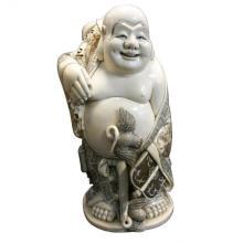 Museum Quality Big Mammoth Ivory Buddha