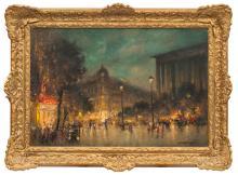 Oil painting 'Paris', Ludolfs Liberts (1895-1959), Latvia, Middle of 20th century