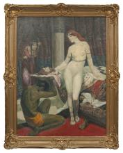 Oil painting 'Salome', Bernhard Borchert   (1863-1945), Latvia, Beginning of 20th century