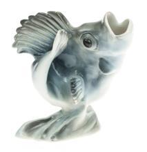 Porcelain figurine 'Perch', 1937-1940, Kuznetsov porcelain factory, Latvia, 20th century 30's