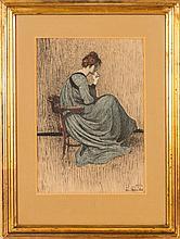 Janis Rozentals (1866-1916), Portrait of Ellija Rozentale