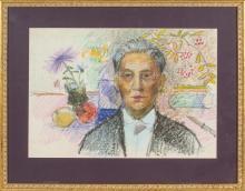 Self portrait of Aleksandra Belcova by Aleksandra Belcova (1892-1981)