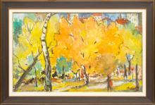 Riga Park in the fall; Aleksandra Belcova (1892-1981)