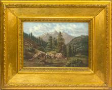 Mountain landscape; Janis Rozentals (1866-1916)