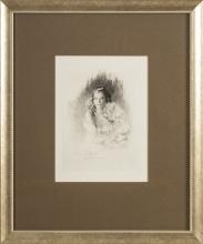 Lady with a cat; Paul Emile Becat (1885-1960)