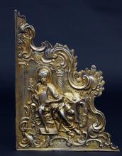 Guilded silver fragment of Bible silver case, Russia, 18th century