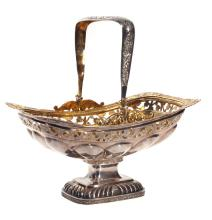 Silver candy dish/utensil with gilding, 19th century, Russia