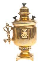 Porcelain teapot with gilding, Kuznetsov porcelain, Russia