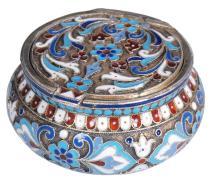 Silver (.88) chest  with enamel by Nikolai Vasilevich Alexeev, Russia