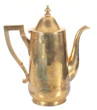 Gilded silver coffee pot with gilding, Europe, first half of 20th century